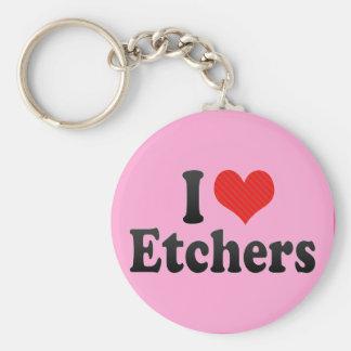 I Love Etchers Keychain