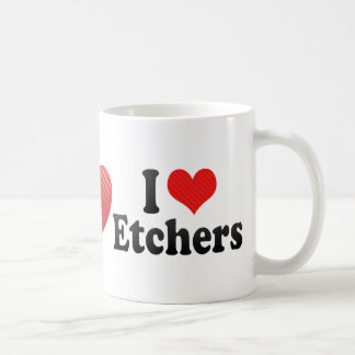 I Love Etchers Mug