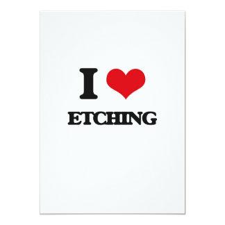 "I love ETCHING 5"" X 7"" Invitation Card"