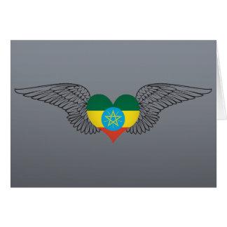 I Love Ethiopia -wings Card