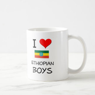 I Love Ethiopian Boys Coffee Mugs