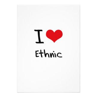 I love Ethnic Custom Invitation