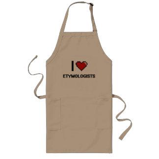 i LOVE eTYMOLOGISTS Long Apron