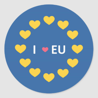 I love EU bumper sticker - remain - EU referendum