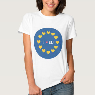 I love EU tshirt - remain voters in the referendum