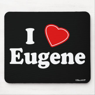 I Love Eugene Mouse Pad