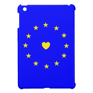 I Love Europe EU Flag with Heart Cover For The iPad Mini