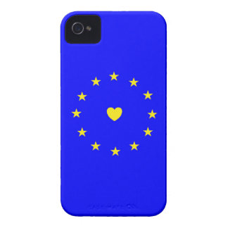 I Love Europe EU Flag with Heart iPhone 4 Case-Mate Cases