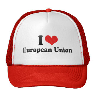 I Love European Union Mesh Hat