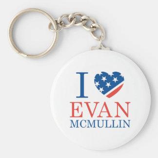 I Love Evan McMullin Basic Round Button Key Ring