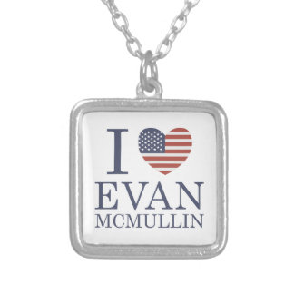 I Love Evan McMullin Silver Plated Necklace
