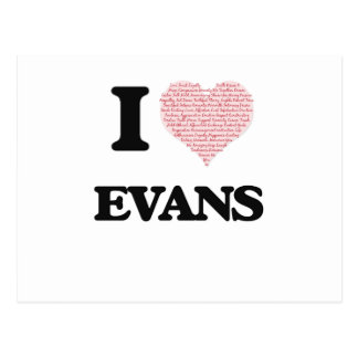 I Love Evans Postcard