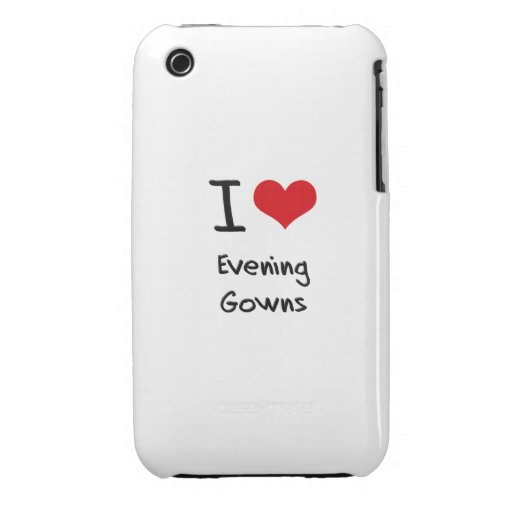 I Love Evening Gowns iPhone 3 Case-Mate Cases