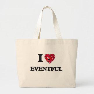 I love EVENTFUL Jumbo Tote Bag