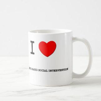 I Love EVIDENCE-BASED SOCIAL INTERVENTION Mugs