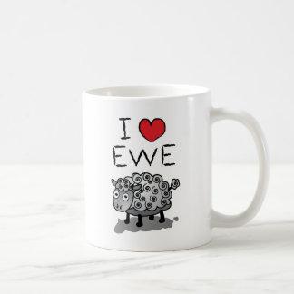 I Love Ewe! Valentines Day Basic White Mug