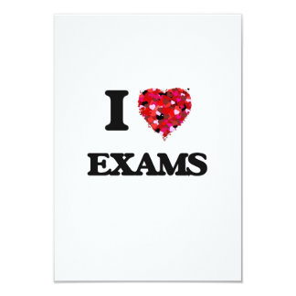 I love Exams 9 Cm X 13 Cm Invitation Card