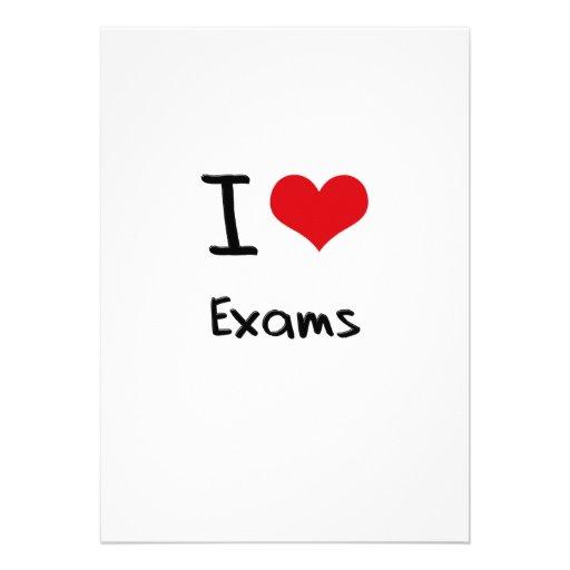 I love Exams Custom Invitation