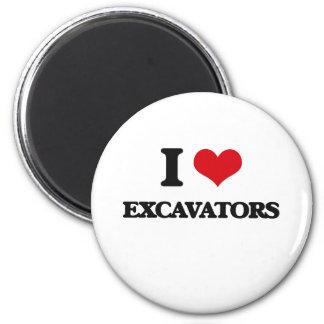 I love EXCAVATORS Refrigerator Magnets