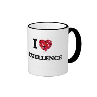 I love Excellence Ringer Mug