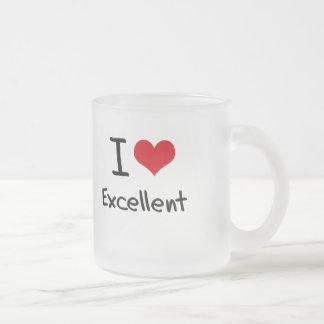 I love Excellent Frosted Glass Mug