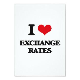 I love EXCHANGE RATES Card