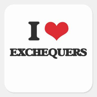 I love Exchequers Square Sticker