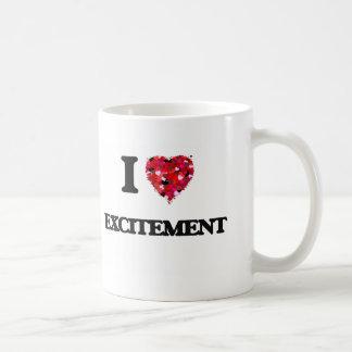 I love Excitement Basic White Mug