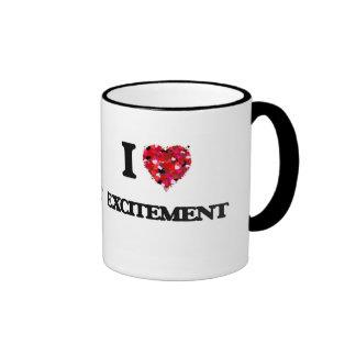 I love Excitement Ringer Mug