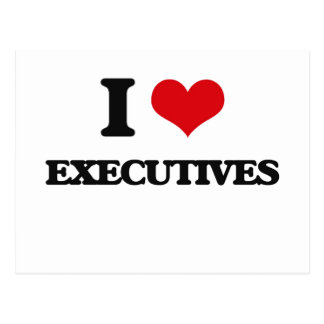 I love Executives Post Card