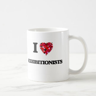 I love Exhibitionists Basic White Mug