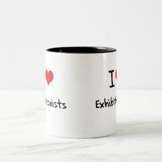 I love Exhibitionists Two-Tone Mug