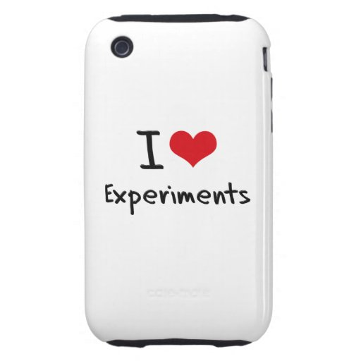 I love Experiments iPhone 3 Tough Cover
