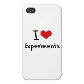 I love Experiments iPhone 4 Cases