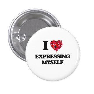 I love Expressing Myself 3 Cm Round Badge
