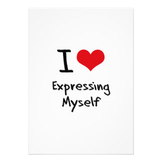 I love Expressing Myself Cards