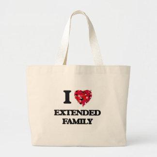 I love Extended Family Jumbo Tote Bag