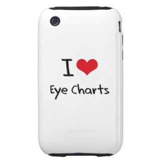I love Eye Charts iPhone 3 Tough Case