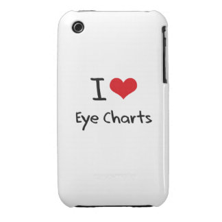 I love Eye Charts Case-Mate iPhone 3 Cases