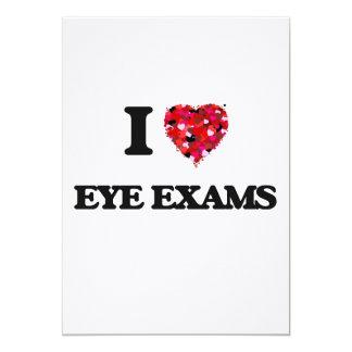 I love Eye Exams 13 Cm X 18 Cm Invitation Card