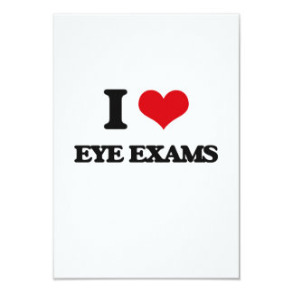 I love EYE EXAMS Personalized Announcement Card