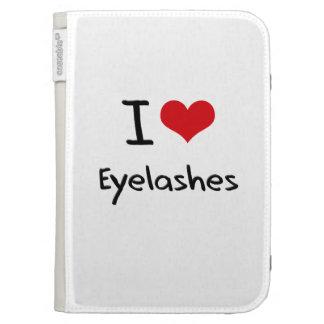 I love Eyelashes Kindle Folio Case