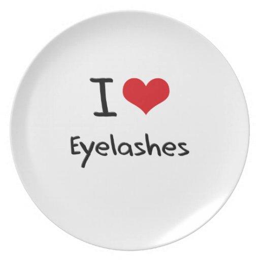 I love Eyelashes Party Plates