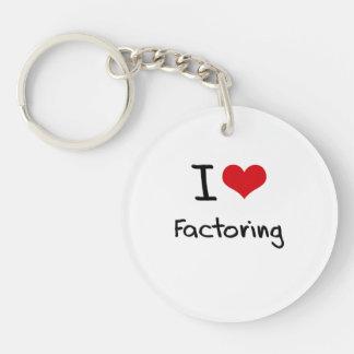 I Love Factoring Double-Sided Round Acrylic Key Ring