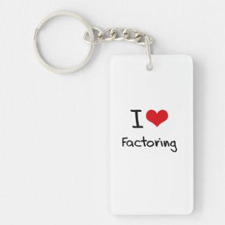 I Love Factoring Single-Sided Rectangular Acrylic Key Ring