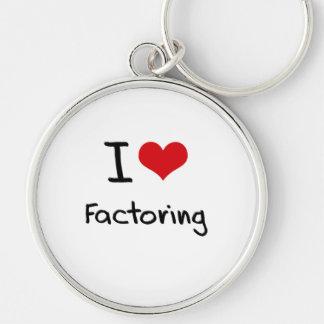 I Love Factoring Keychains