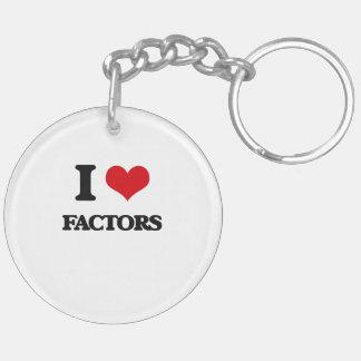 I love Factors Double-Sided Round Acrylic Key Ring