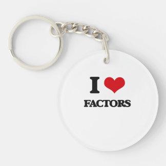 I love Factors Keychain