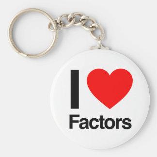 i love factors key chains