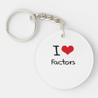 I Love Factors Acrylic Key Chain